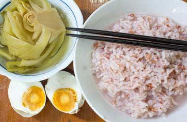 gruel in bowl