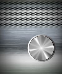 speakers with amplifier and knobs