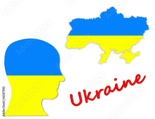 Ukrainian symbols, map and population