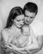 Family with newborn baby boy