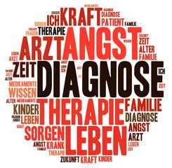 Word Cloud Diagnose Therapie