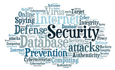 Internet Security Word Cloud