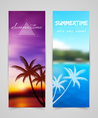 Palm silhouettes cards