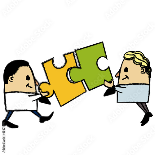 Puzzle businessmen
