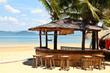 Leinwanddruck Bild - Beach bar with clear blue sky on Phayam island Thailand