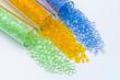 transparentes Plastik Granulat