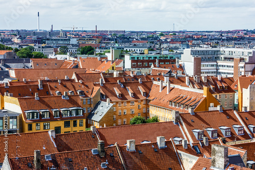 Copenhagen, Denmark. Panoramic view on city