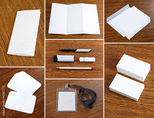 white collection of stationery