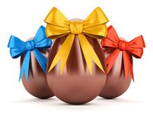 Czekoladowe jaja wielkanocne z Wstążki
