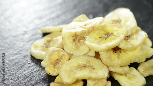 Loopable dried Bananas video