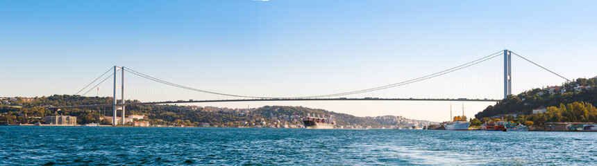 the bridge on Bosphorus (panorama)