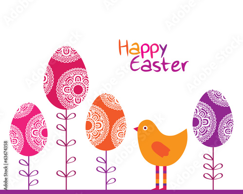 Happy Easter. Vector illustration.