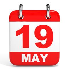 Calendar. 19 May.