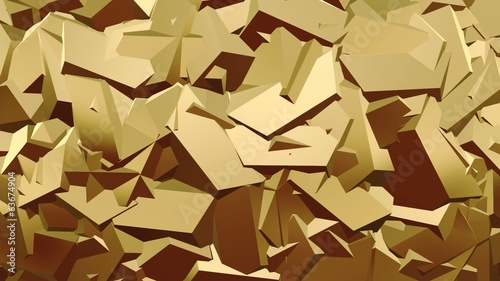 Abstract ridged surface in gold