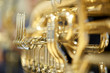 Tuba with valves and tubes close-up - 63675183