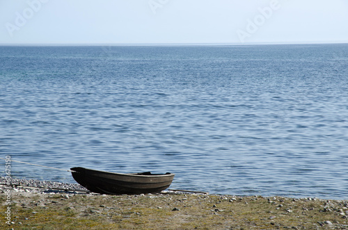 Old rowing boat at seaside