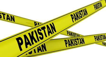 Пакистан (Pakistan). Желтая оградительная лента