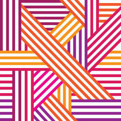 Abstract seamless pattern. Colored intersecting lines.