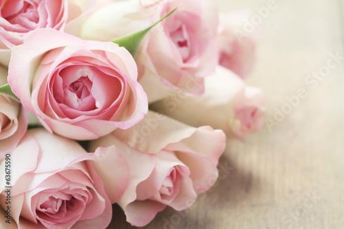 Keuken foto achterwand Roses Pink Roses