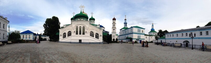 the raifa bogorodsky monastery near kazan, russia
