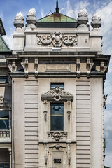 Facades of Belgrade - National Theater Building Frontage Detail