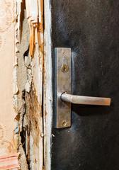 Hack the door with a crowbar