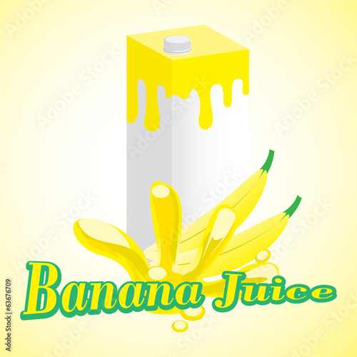 Banana Juice cartons with screw cap