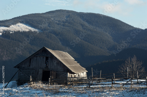 Farm in the mountains