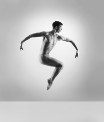 Handsome, sporty and athletic ballet dance