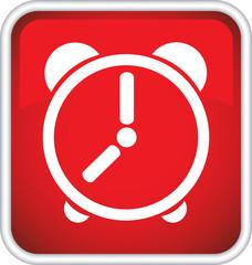 Круглый векторный знак с изображением часов