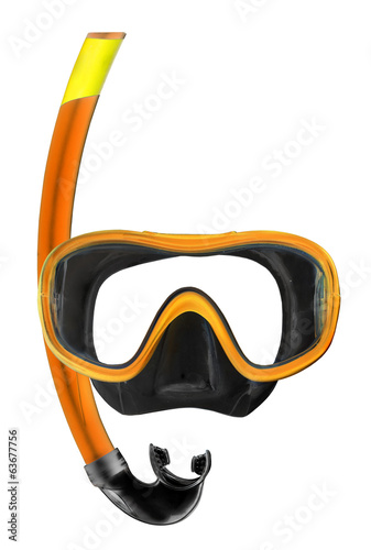 Dive Mask on a white background.