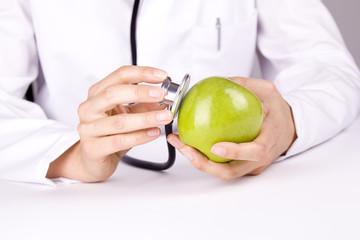 Arzt Apfel Stetoskop