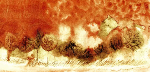 original watercolor painting. vector version. eps 10