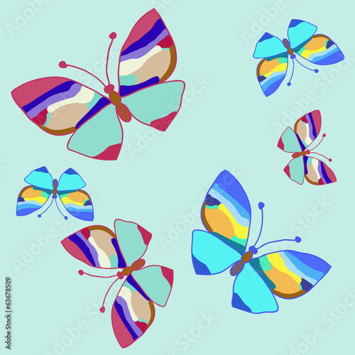 blue butterfly_set