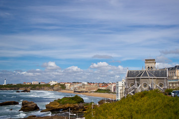 view from Biarritz