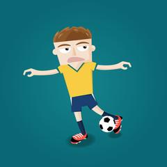 brazilian soccer football player kicking