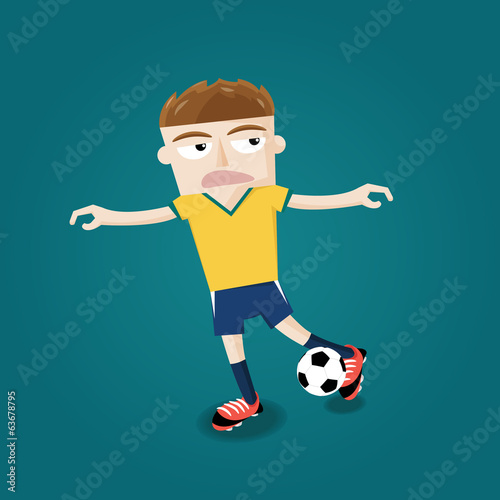 brazilian soccer football player kicking