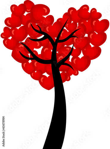 Heart shaped tree