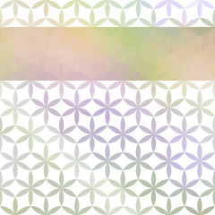 Green and lavender pastel background with bright stripe