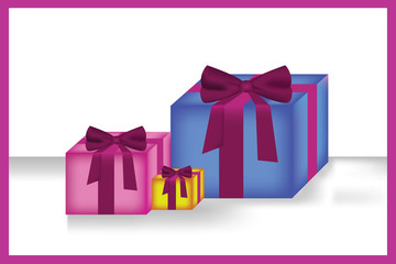 colored  gift boxes_vector