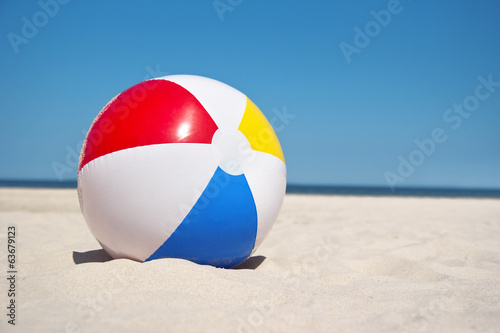 beach ball against sea landscape