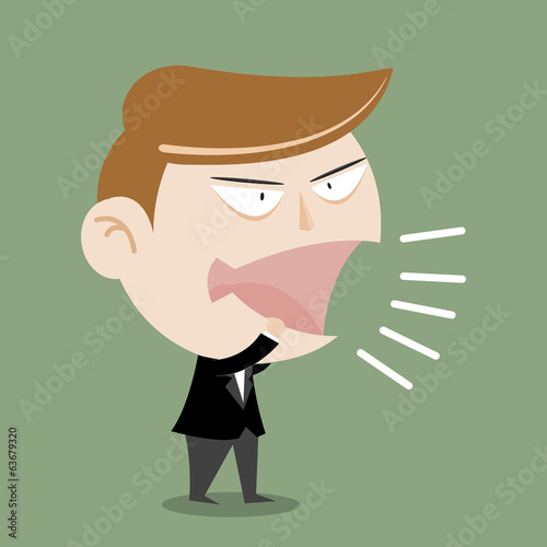 Businessman Man Shouting megaphone