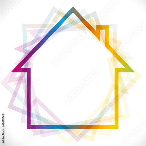 House icon in rainbow color