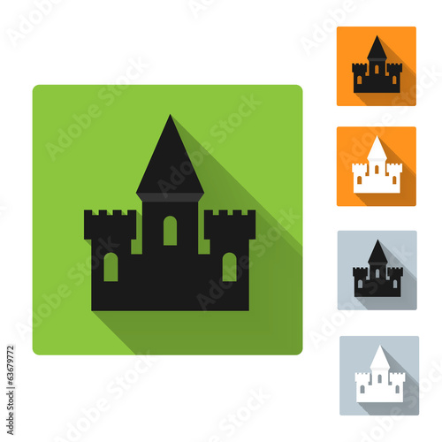 Castle icon, vector illustration