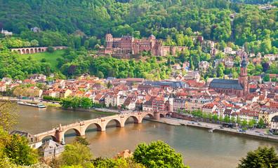Heidelberger Sehenswürdigkeiten auf einem Bild versammelt