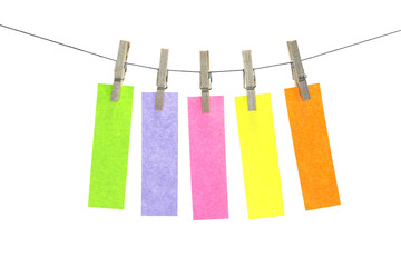 Five multicolor flat sticky note