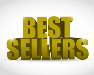 best seller gold sign illustration design