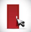 opening the door concept illustration design