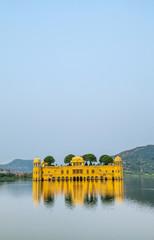 Water Palace (Jal Mahal) in Man Sagar Lake. Jaipur, Rajasthan, I