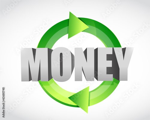 money cycle concept illustration design